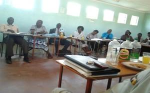 Clockwise ( Lackson; Mrs Dube, chairing; Headman Nengasha; Takoniwa;Gratel;Aaron;Bridget; Joyce & Sharon
